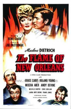 Обложка к фильму Нью-орлеанская возлюбленная (The Flame of New Orleans)