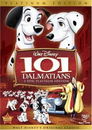 Обложка к фильму 101 далматинец (One Hundred and One Dalmatians)