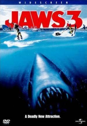 Обложка к фильму Челюсти 3 (Jaws 3-D)