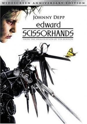 Обложка к фильму Эдвард руки-ножницы (Edward Scissorhands)