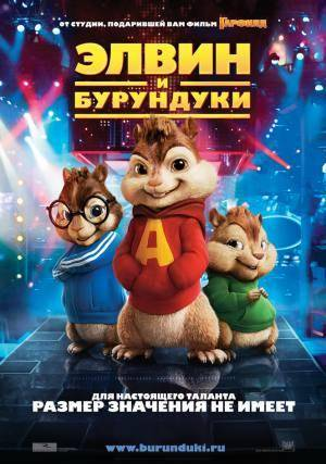 Киноафиша Элвин и бурундуки (Alvin and the Chipmunks)